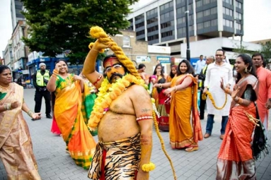 Over 800 NRIs Participate in Bonalu Festivities in London Organized by Telangana Community