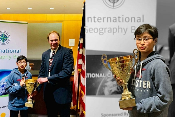 Indian American Whiz Kid Samvrit Rao Crowned U.S. Champion of International Geography Bee in Junior Varsity Division